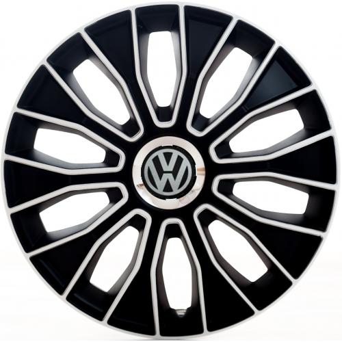 "PUKLICE PRE VW BLACK 16"" VOLTEC white/black 4ks"