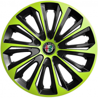 "PUKLICE PRE ALFA ROMEO 15"" STRONG green/black 4ks"