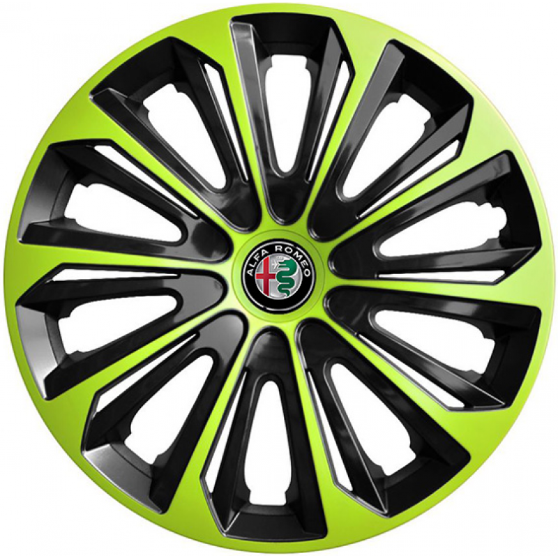 "PUKLICE PRE ALFA ROMEO 16"" STRONG green/black 4ks"