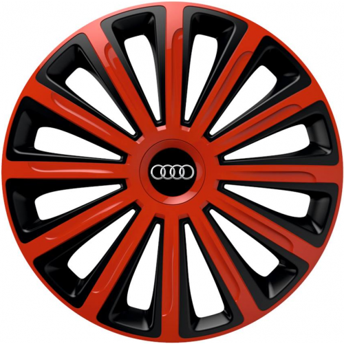 "PUKLICE PRE AUDI 14"" TREND red/black 4ks"