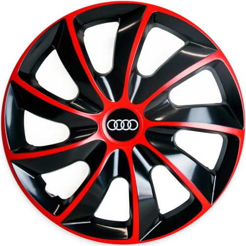 "PUKLICE PRE AUDI 16"" QUAD red/black 4ks"
