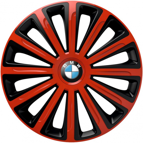 "PUKLICE PRE BMW 16"" TREND red/black 4ks"