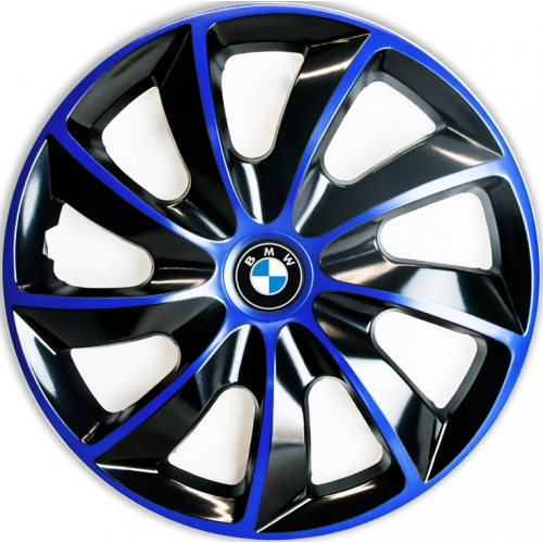 "PUKLICE PRE BMW 15"" QUAD blue/black 4ks"