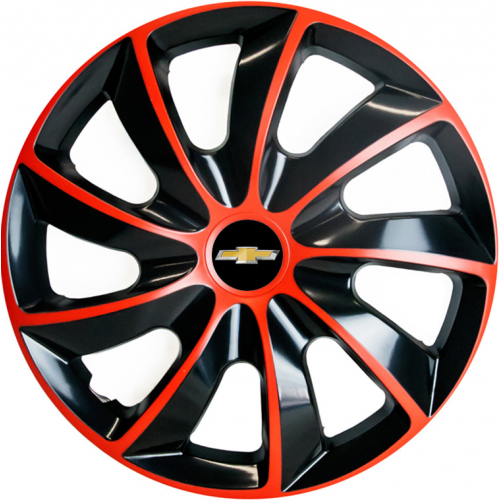 "PUKLICE PRE CHEVROLET 14"" QUAD red/black 4ks"