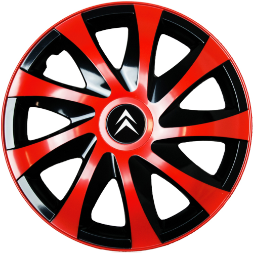 "PUKLICE PRE CITROEN 14"" DRACO red/black 4ks"