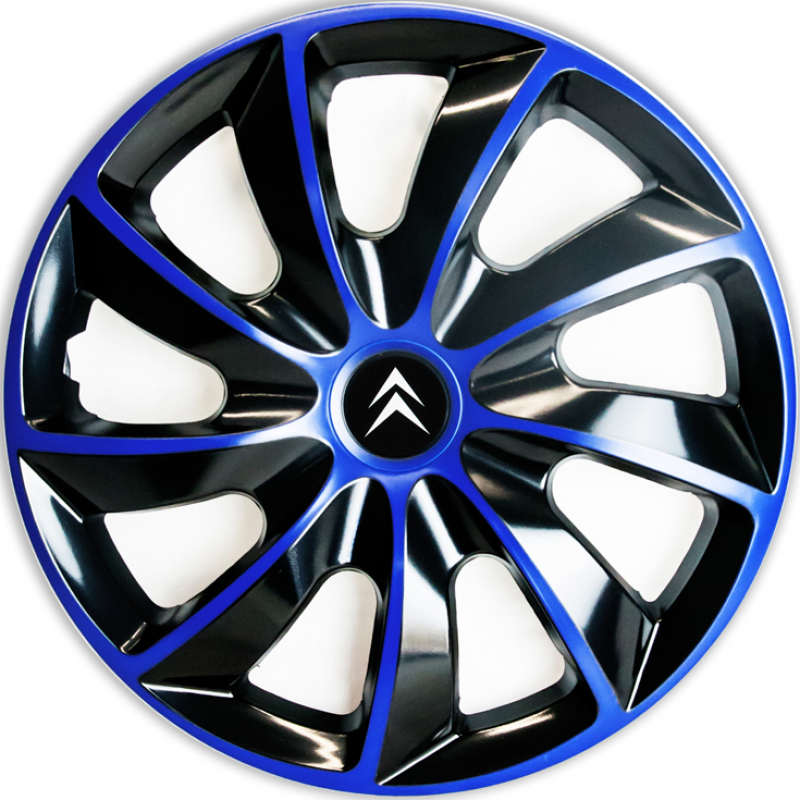 "PUKLICE PRE CITROEN 15"" QUAD blue/black 4ks"