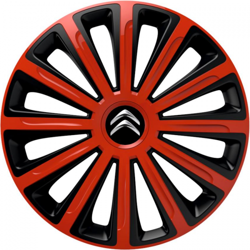 "PUKLICE PRE CITROEN 13"" TREND red/black 4ks"
