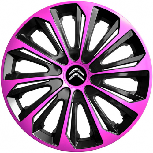 "PUKLICE PRE CITROEN 16"" STRONG pink/black 4ks"