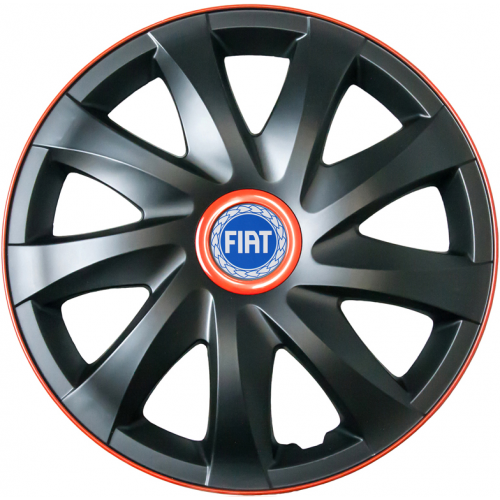 "PUKLICE PRE FIAT BLUE 15"" KANDO race/black 4ks"