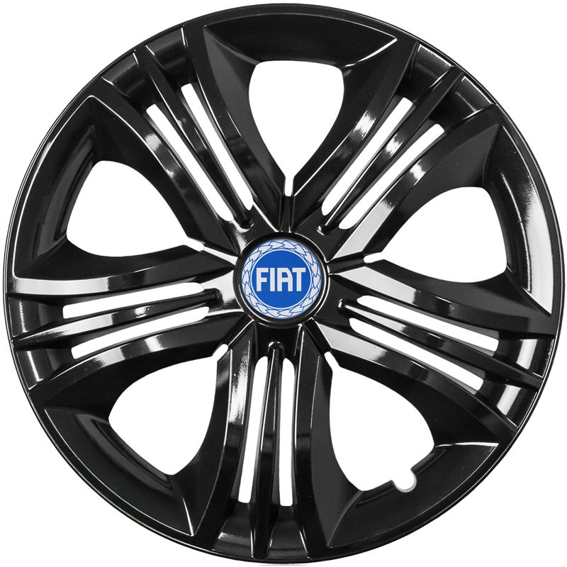"Puklice pre FIAT BLUE 16"" FUN black 4ks"