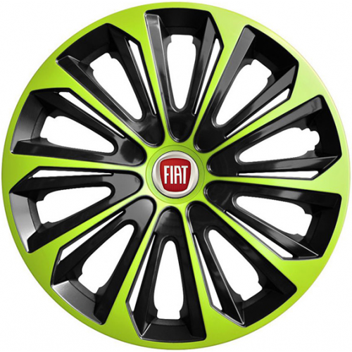 "PUKLICE PRE FIAT RED 16"" STRONG green/black 4ks"