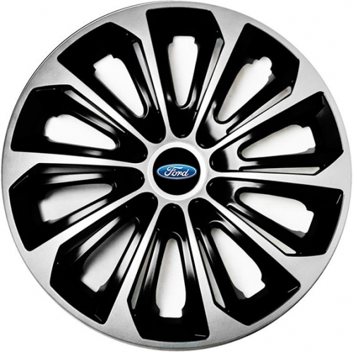 "PUKLICE PRE FORD 15"" STRONG silver/black 4ks"