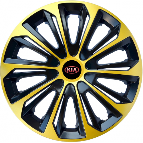 "PUKLICE PRE KIA 16"" STRONG extra gold/black 4ks"