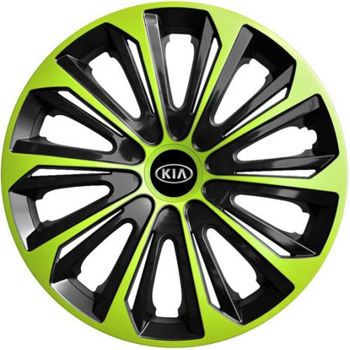 "PUKLICE PRE KIA 16"" STRONG green/black 4ks"