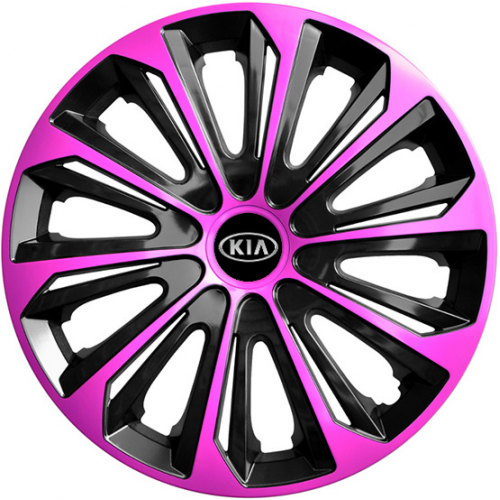 "PUKLICE PRE KIA 16"" STRONG pink/black 4ks"