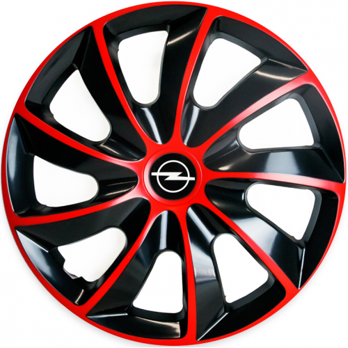 "PUKLICE PRE OPEL 15"" QUAD red/black 4ks"