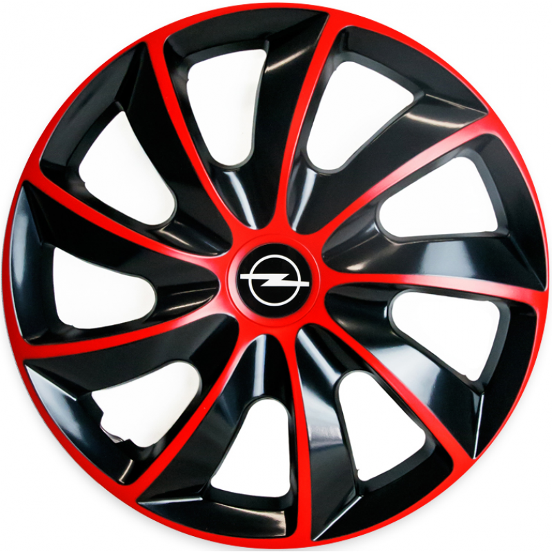 "PUKLICE PRE OPEL 14"" QUAD red/black 4ks"