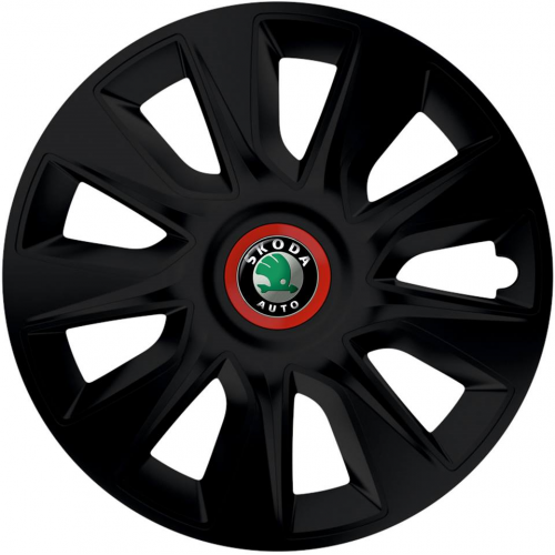 "PUKLICE PRE SKODA GREEN 13"" STRATOS RR/black 4ks"