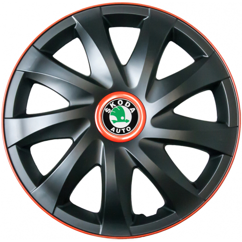 "PUKLICE PRE SKODA GREEN 15"" KANDO race/black 4ks"