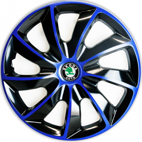 "PUKLICE PRE SKODA GREEN 15"" QUAD blue/black 4ks"