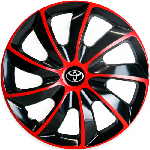 "PUKLICE PRE TOYOTA 16"" QUAD red/black 4ks"