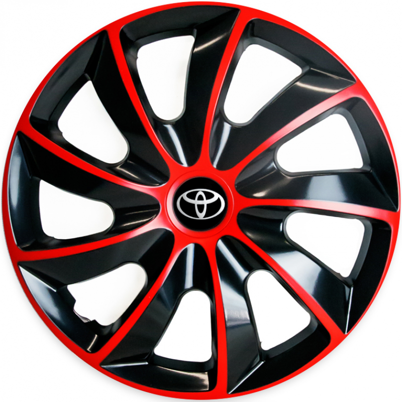 "PUKLICE PRE TOYOTA 14"" QUAD red/black 4ks"
